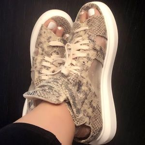 Shoes - New Python Print Sneaker Sandal